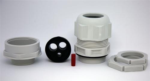 3 x Wiska TKE//P40//RD IP68 Plastic Tails Gland Kit 32mm//40mm Insert /& Locknut
