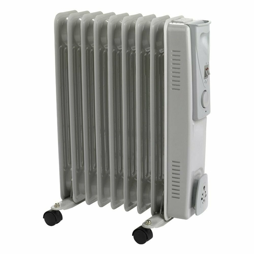 Status Oil Filled Radiator 9 Fin 2000 Watt- Grey   - Click to view a larger image