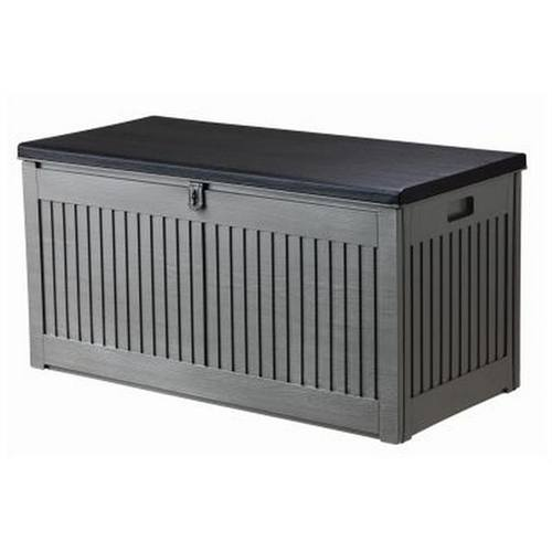 Redwood 72 Gallon/ 327L Outdoor Plastic Storage Box & Seat  - Click to view a larger image