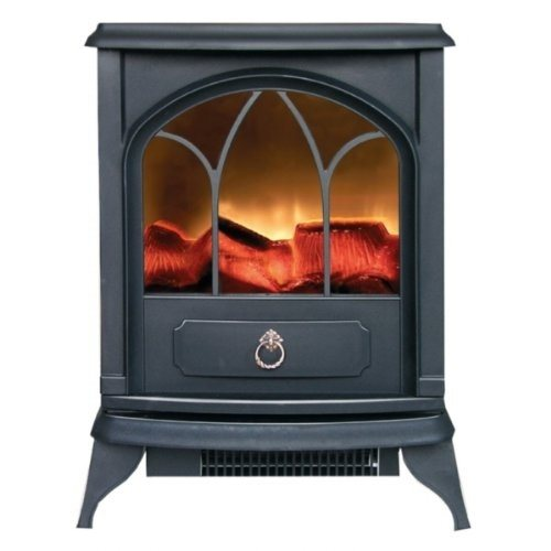 Kingavon 2kW Electric Stove - BLACK   - Click to view a larger image