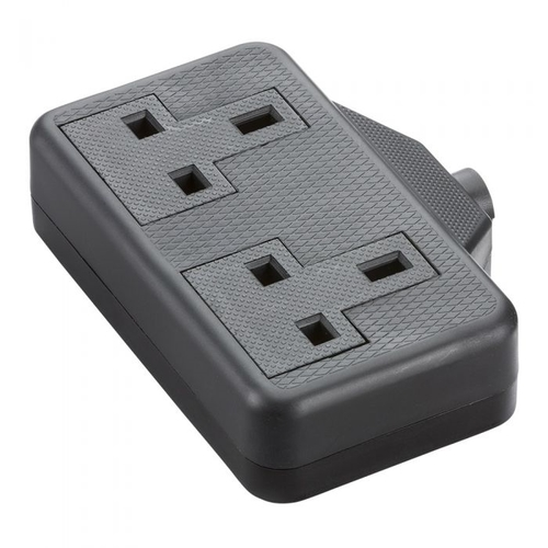 KnightsBridge 13A 2G Trailing Socket  - Click to view a larger image
