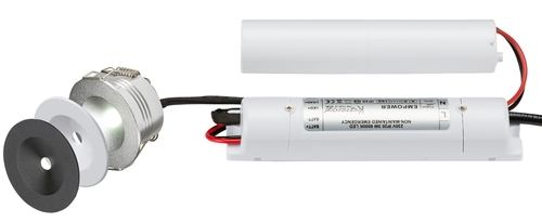 KnightsBridge 230V IP20 3W LED Emergency Downlight Kit
