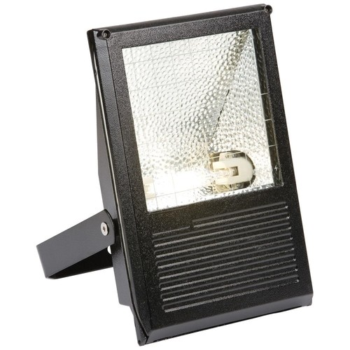 KnightsBridge 70W HQI Floodlight IP54 Outdoor Black Die-Cast Aluminium   - Click to view a larger image