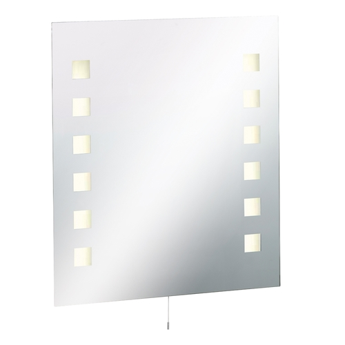 KnightsBridge IP44 Rectangular Bathroom Mirror with Dual Voltage Shaver Socket  - Click to view a larger image