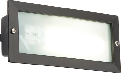 KnightsBridge IP44 9W PL Low Energy Black Bricklight  - Click to view a larger image