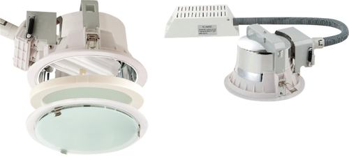 KnightsBridge Twin Recessed 2x26W PL Downlight - White   - Click to view a larger image