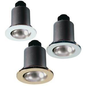 KnightsBridge R63 60W Fixed Downlight Brass, Chrome and White