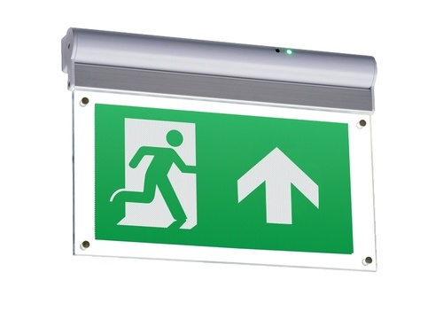KnightsBridge 230V IP20 Wall or Ceiling Mounted LED Emergency Exit Sign  - Click to view a larger image