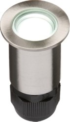 KnightsBridge Small Stainless Steel LED Ground Light - White   - Click to view a larger image