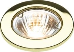 KnightsBridge IP20 12V 50W max. L/V Downlights with Bridge Brass