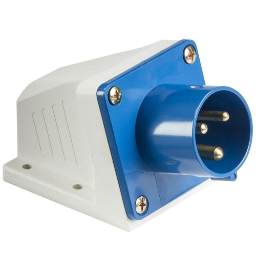 KnightsBridge 32A 2P+E 240V BLUE Appliance Inlet