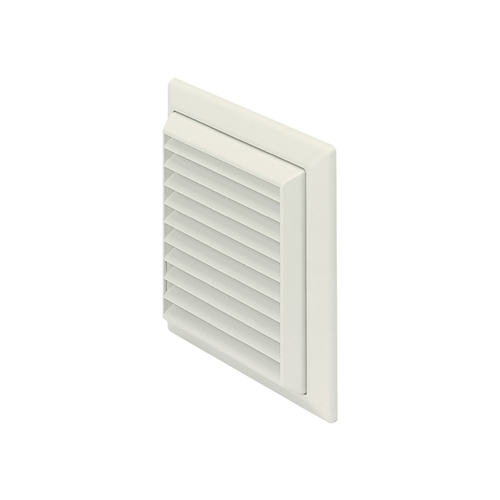 Polypipe 100mm White Louvered Grille Round Spigot   - Click to view a larger image