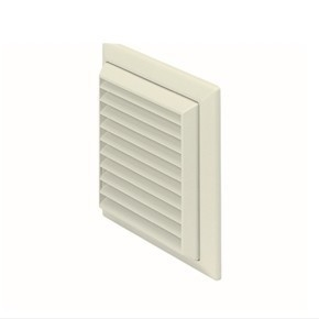 Polypipe Domus 150mm Fixed Grill Vent - White  - Click to view a larger image