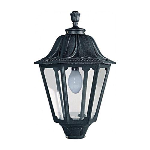 Fumagalli NOEMI E27 Hexagonal Lantern Head Black Traditional Garden Light  - Click to view a larger image