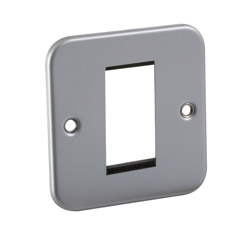 KnightsBridge Metal Clad 1G Modular Faceplate  - Click to view a larger image
