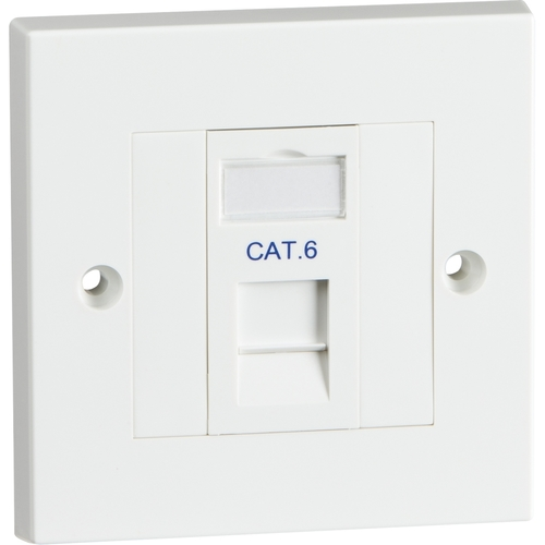KnightsBridge Single Cat6 Outlet Kit  - Click to view a larger image