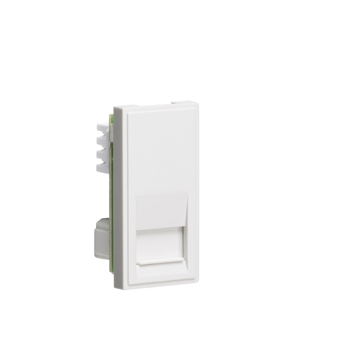 KnightsBridge White Telephone Outlet Module  - Click to view a larger image