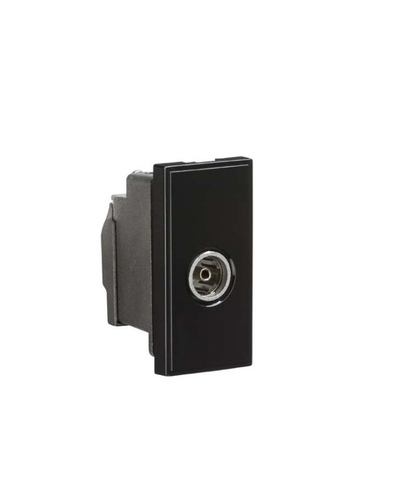 KnightsBridge TV/FM Female Co-Axial Socket Module - Black  - Click to view a larger image