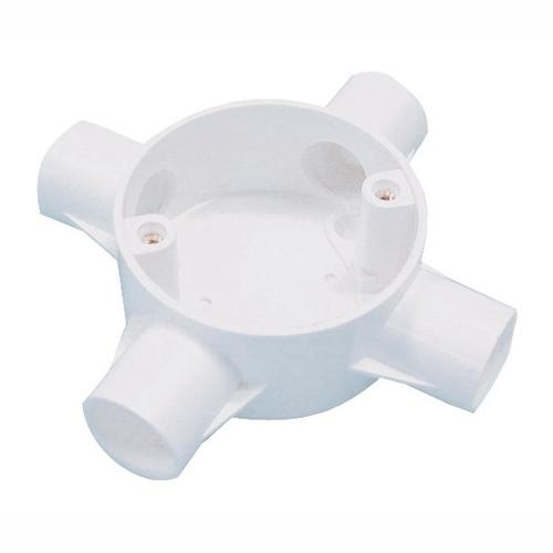 Greenbrook 20mm PVC Conduit 4 Way Box - White