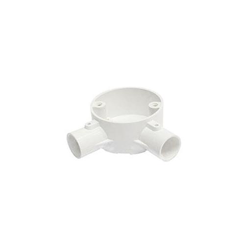 Greenbrook 20mm PVC Conduit Angle Box - White