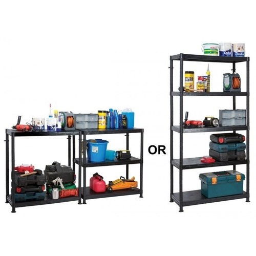 Garland 5 Shelf Self Assembly Plastic Shelving Unit   - Click to view a larger image