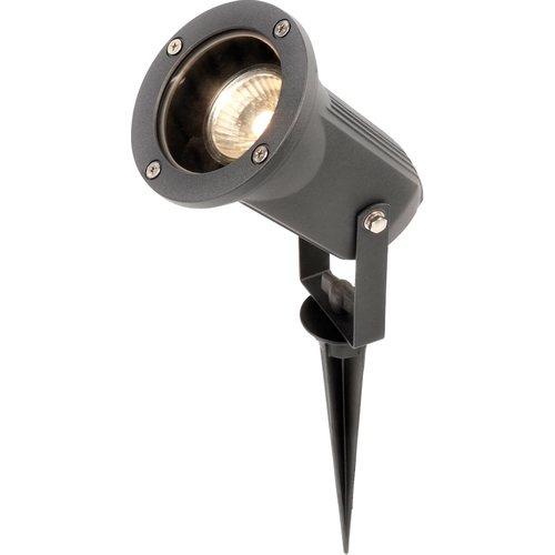 KnightsBridge 230V IP54 50W GU10 Directional Garden Spike/Wall Spotlight  - Click to view a larger image