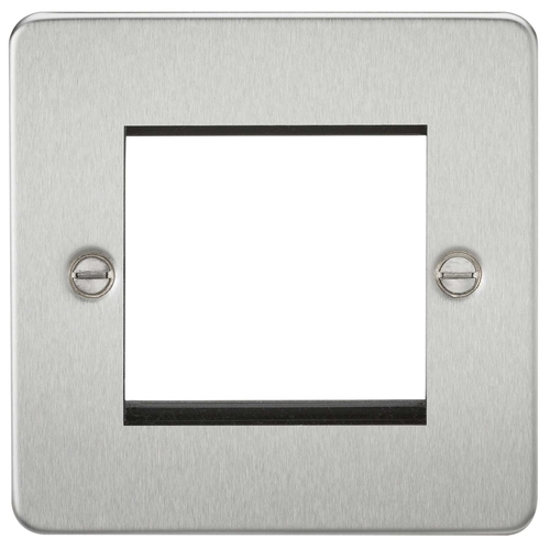 KnightsBridge Flat Plate 2G Modular Faceplate  - Click to view a larger image