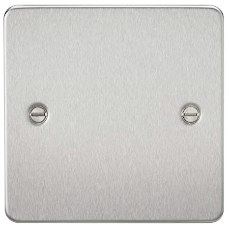 KnightsBridge 1G Blanking Flat Plate- Brushed Chrome  1
