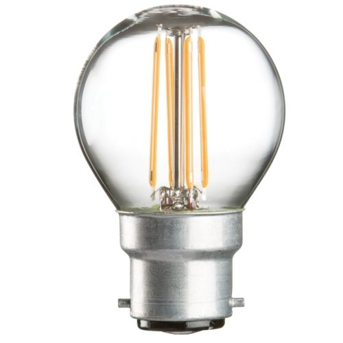 KnightsBridge 230V 4W LED 45mm Clear Golf Ball Bulb  - Click to view a larger image