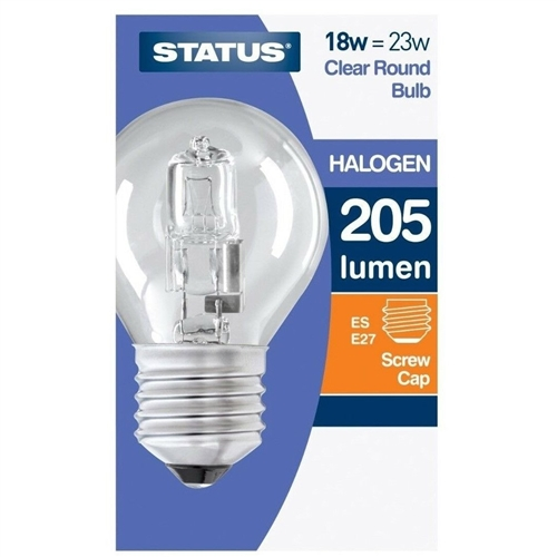 Status 18w Clear Round Halogen Bulb Electrical World