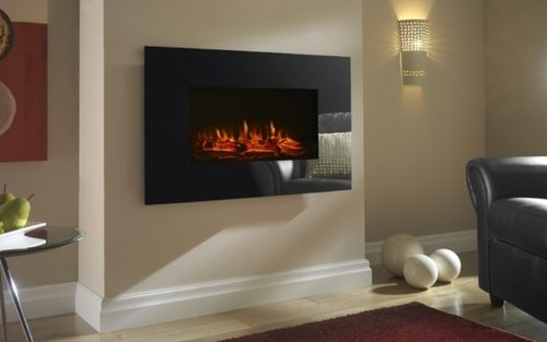 Focal Point Charmouth Glass Effect Electric Fire - Black  - Click to view a larger image