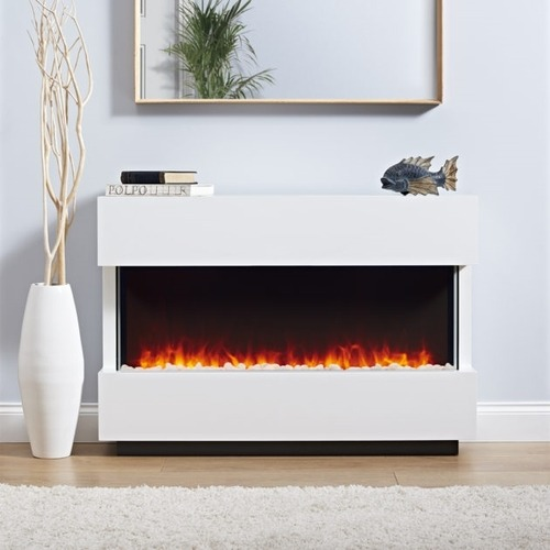 Focal Point Panoramic White Electric Fire Suite  - Click to view a larger image