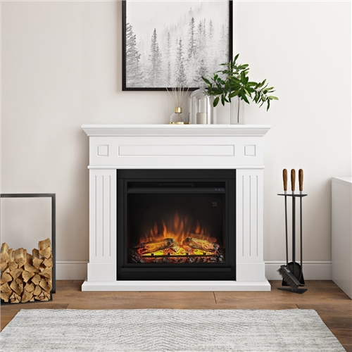 Tagu Larsen Electric Fireplace Pure White - Click to view a larger image