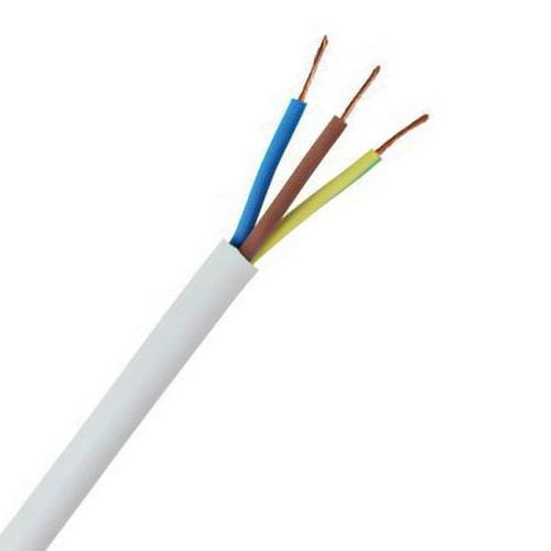 Zexum 1mm 3 Core White Cable Flexible 3183Y  - Click to view a larger image
