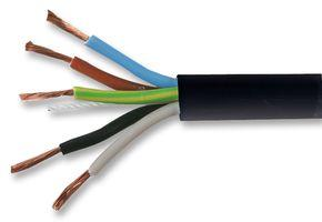 Zexum 0.75mm 5 Core PVC Flex Cable Black Round 3185Y 0.75 5 Core 3185Y Black Flexible Cable - 100m Roll - Click to view a larger image