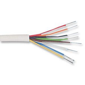 Zexum 4 Pair 8 Core Round White Burglar Alarm Cable  - Click to view a larger image