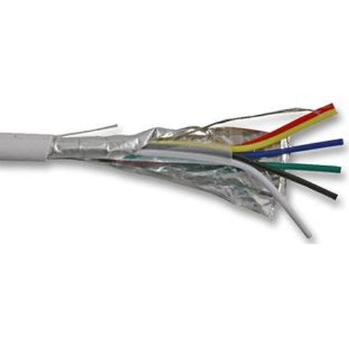 CQR White 0.182mm 6 Core 3 Pair Round Professional Screened Copper PVC Intruder Burglar Alarm Security Cable