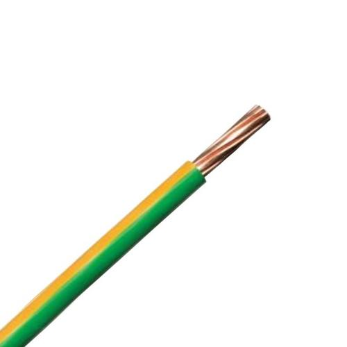 Zexum Earth Green Yellow 2.5mm 7 Strand 24A Single Core 6491B LSZH (Low Smoke Zero Halogen) Round Power Insulated Conduit Wire  - Click to view a larger image