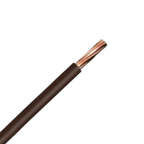 Zexum Brown 10mm 7 Strand 55A Single Core 6491B LSZH (Low Smoke Zero Halogen) Round Power Insulated Conduit Wire  - Click to view a larger image