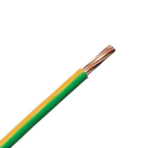 Zexum Earth Green Yellow 10mm 7 Strand 55A Single Core 6491B LSZH (Low Smoke Zero Halogen) Round Power Insulated Conduit Wire  - Click to view a larger image