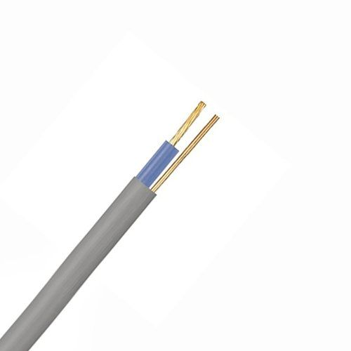 Zexum Grey 1mm 14A Blue Single Core & Earth 6241Y Flat PVC/PVC Harmonised Lighting Power Cable  - Click to view a larger image