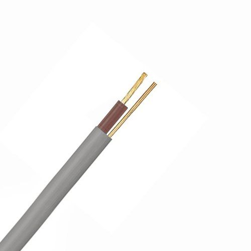 Zexum Grey 1.5mm 16A Brown Single Core & Earth 6241Y Flat PVC/PVC Harmonised Lighting Power Cable  - Click to view a larger image