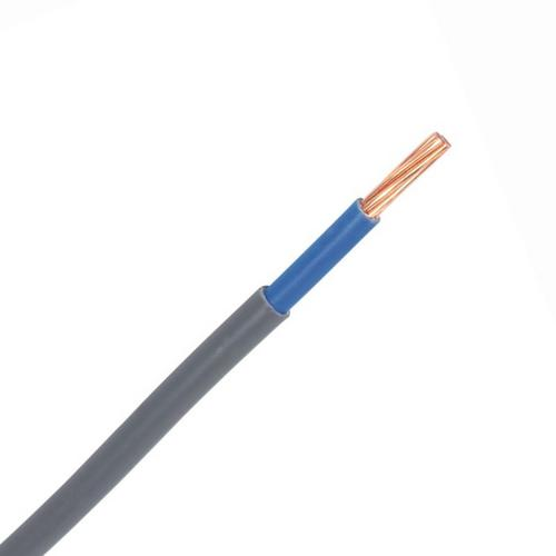 Zexum Grey 10mm 65A Blue Meter Tails 6181Y Round PVC/PVC Harmonised Cable  - Click to view a larger image