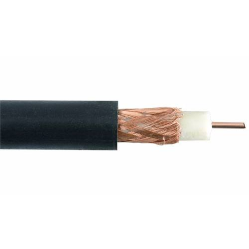 Zexum Black Single 0.65mm Copper RG59 CCTV Coax Cable With Solid PE & CCA Braid