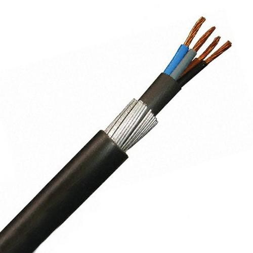 Zexum 4mm 4 Core 42A Brown Black Grey Blue 6944X Steel Wire Armoured SWA Outdoor Mains Power Cable  - Click to view a larger image