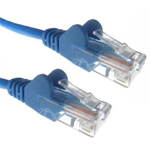 Zexum Blue RJ45 Cat6 High Quality 24AWG Stranded Snagless UTP Ethernet Network LAN Patch Cable  - Click to view a larger image