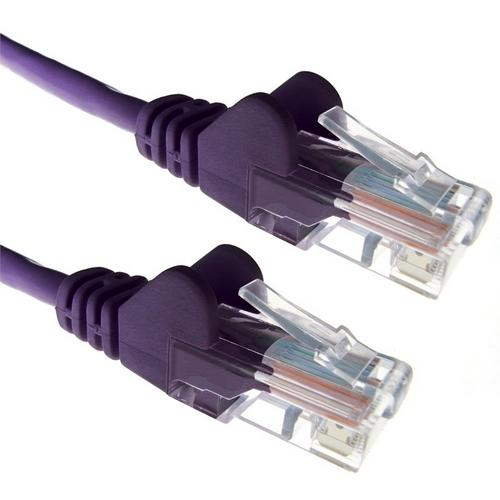 Zexum Purple RJ45 Cat6 High Quality LSZH 24AWG Stranded Snagless UTP Ethernet Network LAN Patch Cable  - Click to view a larger image