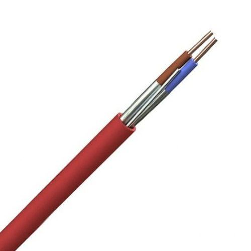Zexum Red 2.5mm 24A 2 Core & Earth Brown Blue Fire Resistant Rated BASEC Approved Power Cable  - Click to view a larger image