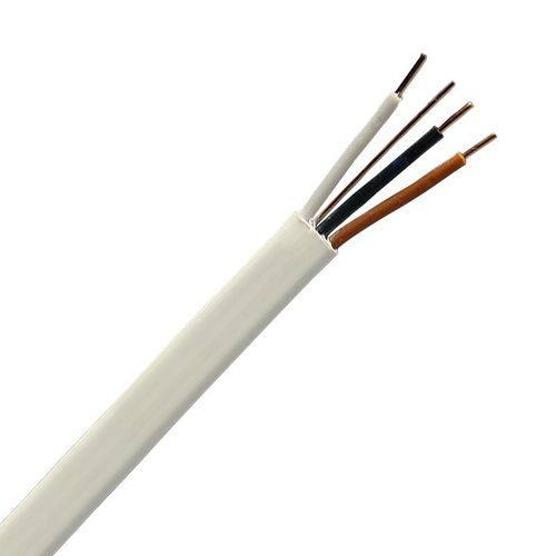 Zexum White 1.5mm 16A 3 Core & Earth Brown Black Grey Fire Resistant Rated BASEC Approved Power Cable  - Click to view a larger image