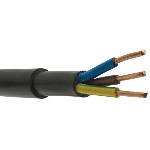Zexum Black 2.5mm 26A 3 Core Brown Blue Green & Yellow 600 to 1000V Rated NYY-J Hi Tuff Outdoor Cable  - Click to view a larger image